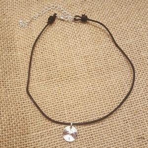 Jewelry - Circle Disk Charm Cord Choker